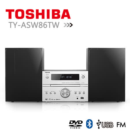【TOSHIBA】福利品 DVD/MP3/USB/藍芽床頭音響 (TY-ASW86TW)