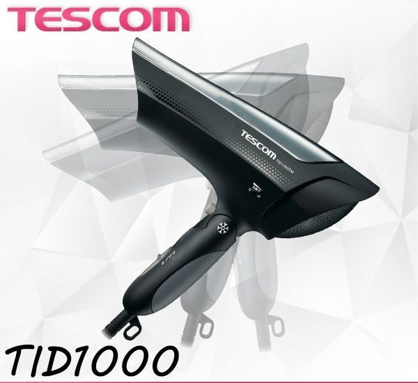 TESCOM TID1000TW TID1000 奈米負離子大風量吹風機 黑色   貨
