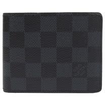 Louis Vuitton LV N62239 Slender 黑棋盤格紋雙折短夾_現貨