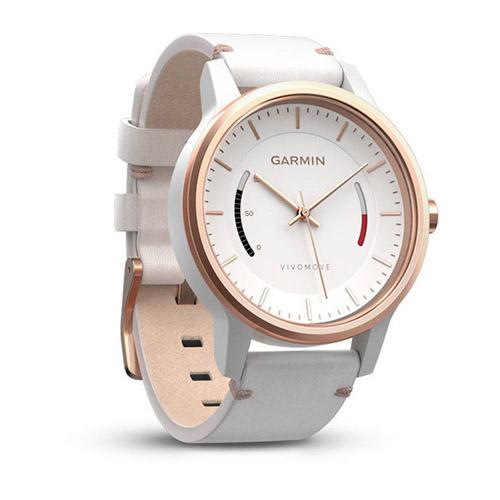 GARMIN vivomove 智慧指針式手錶 (經典皮革款)