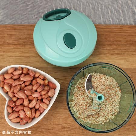 PUSH! 廚房用品手拉式壓蒜器餡料處理機 切菜器 碎菜器 食物料理機D99