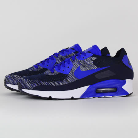 NIKE 男 AIR MAX 90 ULTRA 2.0 FLYKNIT 休閒鞋 藍黑 875943400