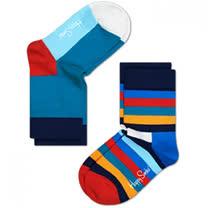 瑞士Happy Socks<br>五色彩旗x繽紛條紋-2入