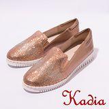 kadia.舒適百搭-造型水鑽平底鞋(玫瑰金7002-60)