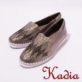 kadia.舒適百搭-造型水鑽平底鞋(灰7002-80)