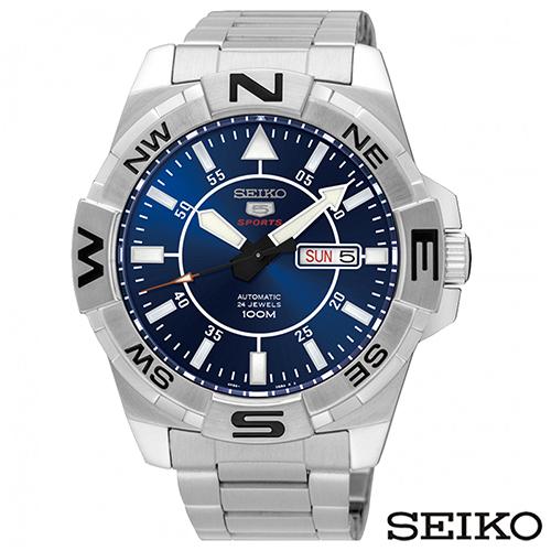 SEIKO精工 精工5運動款夜光自動不鏽鋼手錶 SRPA61K