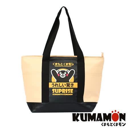 【KUMAMON】熊本熊 加厚側背包(黃 NO-17)