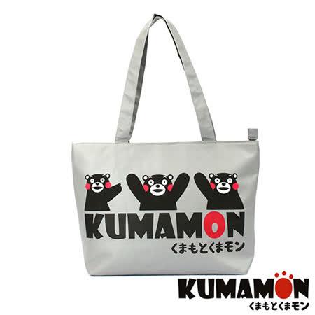 【KUMAMON】熊本熊 輕巧側背包(灰) NO-13