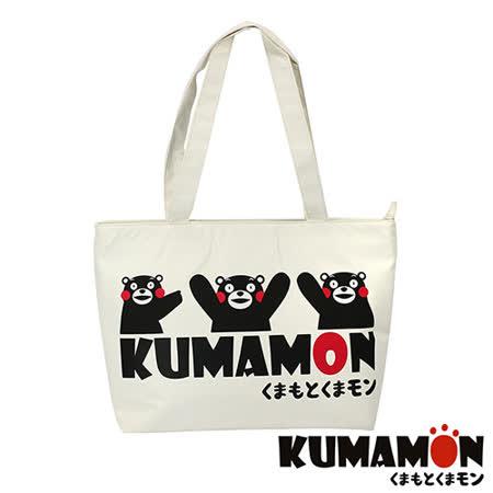 【KUMAMON】熊本熊 輕巧側背包(白 NO-13)