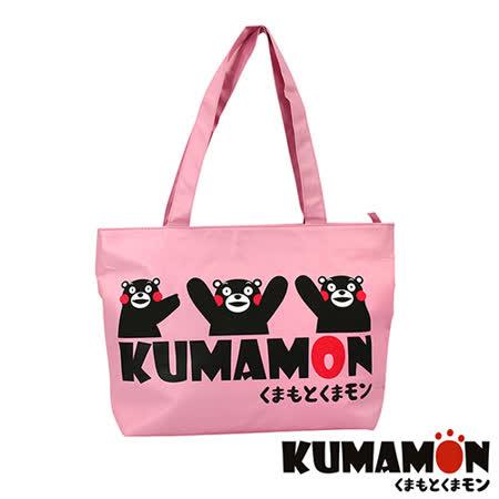 【KUMAMON】熊本熊 輕巧側背包(粉 NO-13)