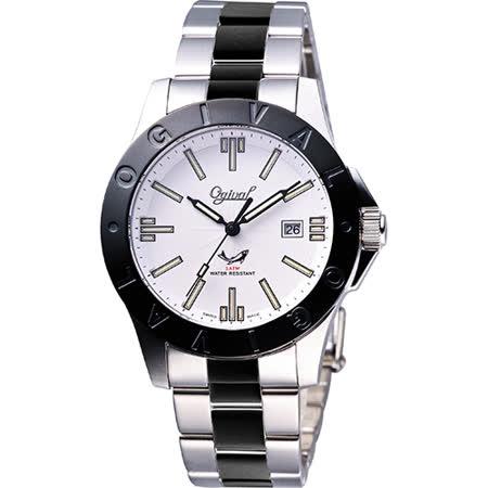 Ogival 經典夜鷹氚氣燈管腕錶-40mm 827TMSB