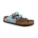 Papillio 158031。SPARTA斯巴達 夾腳二條拖鞋(藍底小碎花)