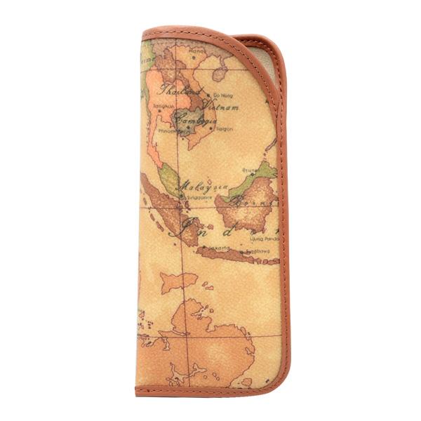 Alviero Martini 義大利地圖包 眼鏡收納套~地圖黃
