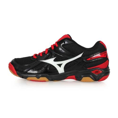 (男女) MIZUNO WAVE TWISTER 4 排球鞋-美津濃 黑紅