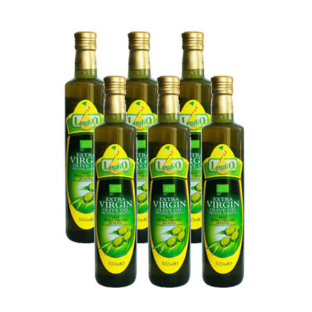 即期品LugliO義大利羅里奧特級有機初榨橄欖油(500ml*6入組)