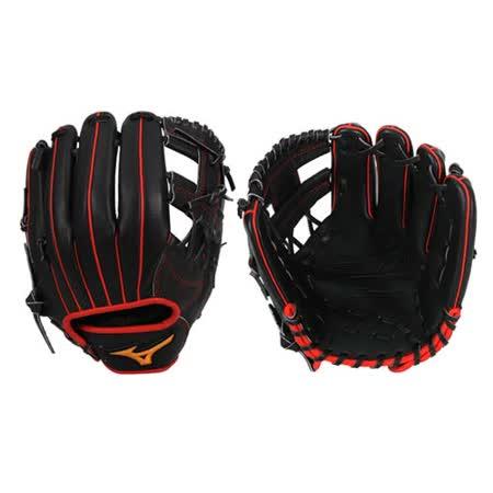 MIZUNO 硬式手套-棒球 壘球 美津濃 黑紅 F