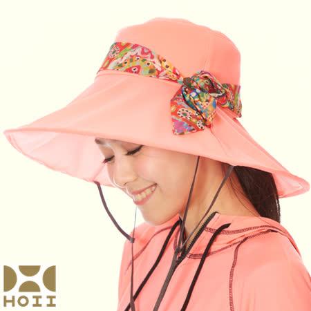 保證原廠~HOII防曬【Hosca花漾法式優雅圓筒帽】★紅光/黃光/藍光-后益先進光學