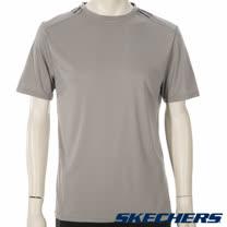 SKECHERS 男短袖衣 - GMPTS231GREY