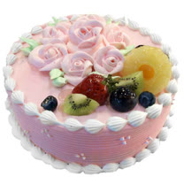 現貨+預購【台灣鑫鮮】粉紅花漾草莓蛋糕5吋