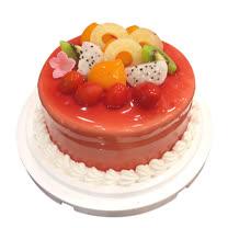 現貨+預購【台灣鑫鮮】酸甜草莓淋面蛋糕5吋