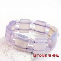 石頭記紫玉髓版型手鍊-紫氣東來