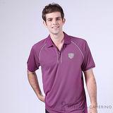 ROBERTA諾貝達 台灣製 吸溼排汗 抗UV 短袖POLO棉衫 桃紫