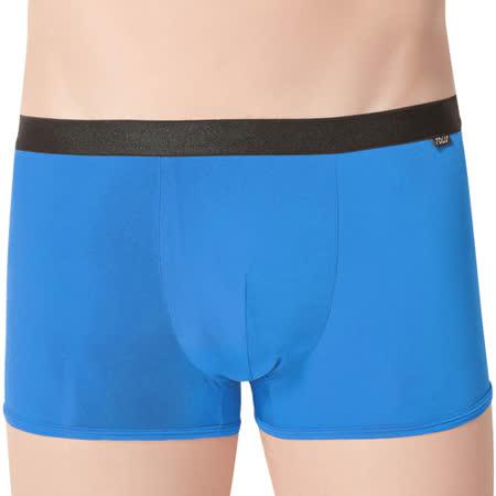 【SOLIS】夏日涼感WINCOOL系列M-XXL素面貼身四角男褲(寶藍色)