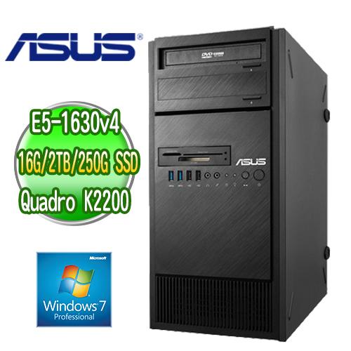ASUS 華碩 WS860T 高階繪圖工作站 ( E5-1630v4 16G M.2 250GB SSD+2TB  Quadro K2200繪圖卡 WIN7專業版)