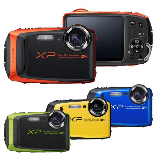 FUJIFILM FinePix XP90 防水相機(公司貨)-送64G高速卡+專用電池+座充+自拍棒+原廠包+清潔組+保護貼+讀卡機+小腳架