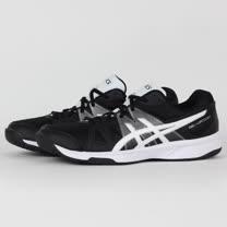 ASICS 男 GEL-UPCOURT 排羽球鞋 黑白 B400N9001