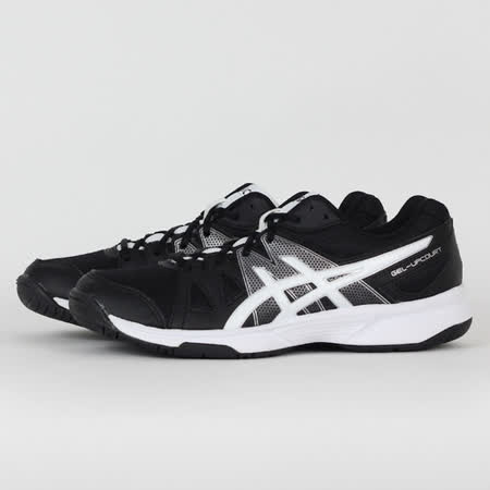 ASICS 女 GEL-UPCOURT 排羽球鞋 黑白 B450N9001