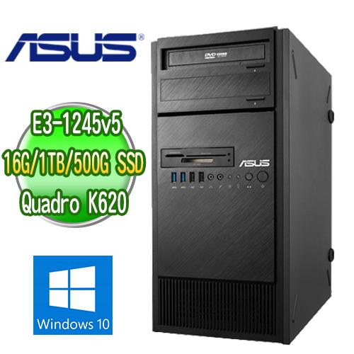 ASUS 華碩 ESC500 G4 四核繪圖工作站 ( E3-1245v5 16G M.2 500GB SSD+1TB K620繪圖卡 WIN10專業版)