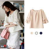 日本ANNA LUNA 預購-折縫蝴蝶結寬袖造型上衣(共兩色/M-L)