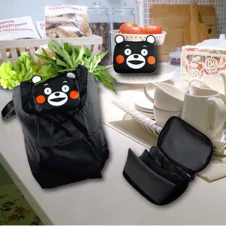 【KUMAMON】酷Ma萌造型購物袋 Q-03K超值二入組