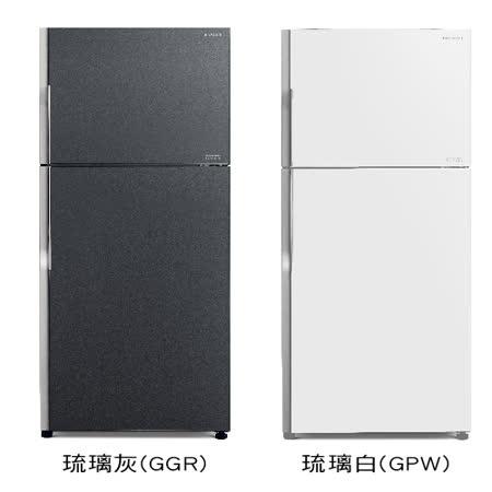 【結帳優惠價】日立381公升變頻琉璃面板雙門冰箱RG399