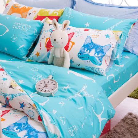 OLIVIA 《 巴黎狂想 》 雙人床包枕套三件組