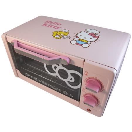 【Hello Kitty】10L電烤箱 (OT-522) SANRIO原廠授權 加1元加購SUPERARE彈蓋瓶380ml(顏色隨機)