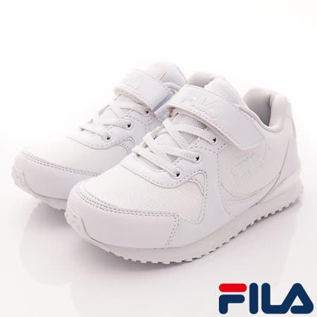 FILA頂級童鞋-純白運動款-(419R-111白-20-24cm)