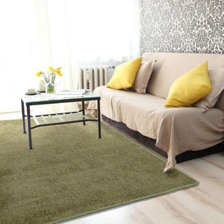 范登伯格 瑪莎高質感素面地毯-綠色-150x200cm