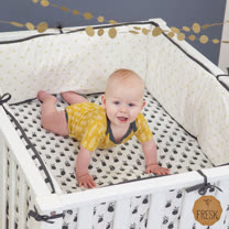 荷蘭 FRESK 荷蘭有機棉嬰兒防撞半床圍(5種款式)