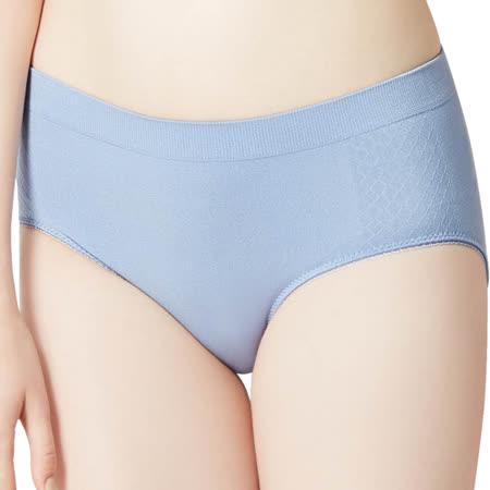 【思薇爾】I LOVE U系列M-XXL素面中腰三角內褲(紫煙藍)