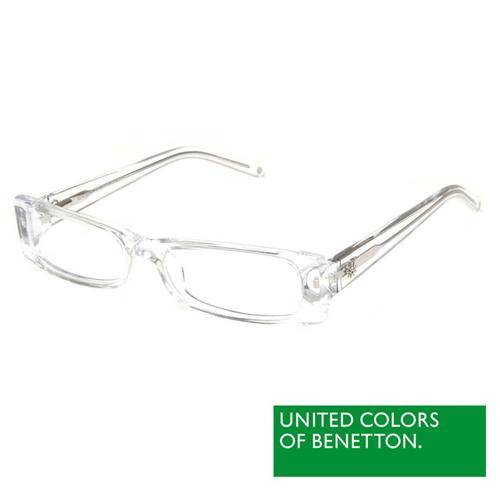 BENETTON 班尼頓 專業兒童眼鏡透色方框混搭設計系列(白/粉紅/紅紫/紫粉 BB031-01/02/03/04)