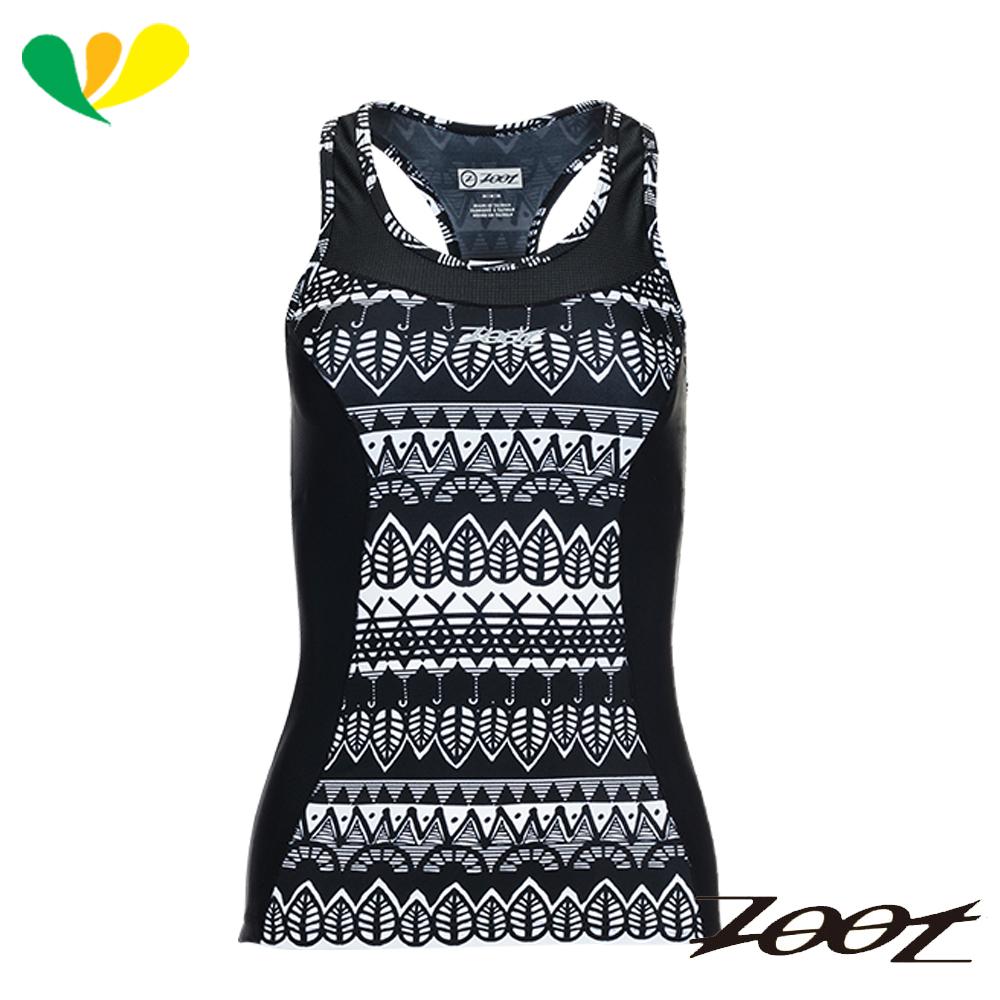ZOOT 級美背式肌能鐵人上衣 女  Z1706005 圖紋黑