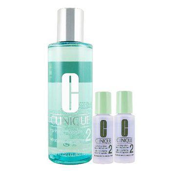 Clinique 三步驟保濕潔膚水二號400ml+溫和潔膚水二號30mlX2 無