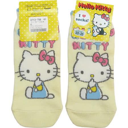 【波克貓哈日網】日系腳踝襪◇Hello kitty 凱蒂貓◇《嫩黃色》