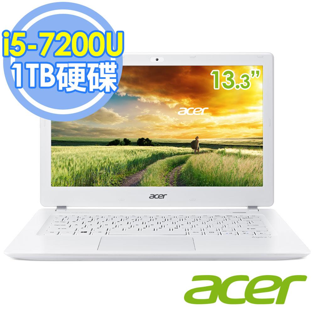 Acer V3-372-5970 i5-7200U 13.3吋FHD/1TB 輕薄筆電–送HP DJ1110彩色噴墨印表機(鑑賞期過後寄出)