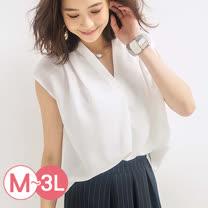 日本ANNA LUNA 預購-日本熱銷 前短後長折縫無袖襯衫(共七色/M-3L)