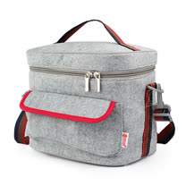 PUSH! 餐具用品保溫飯盒便當盒保溫提袋1入(超大號)E92