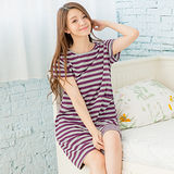 Wonderland 無暇風尚居家洋裝(紫灰)