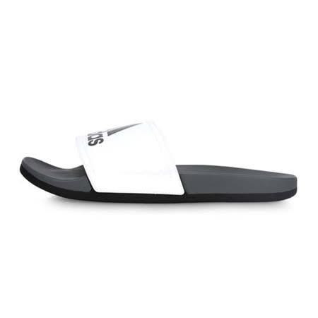 (男) ADIDAS 運動拖鞋-游泳 海邊 海攤 戲水 愛迪達 灰白